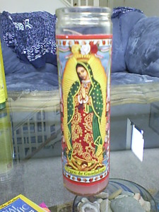 Our Lady of Guadalupe Candle
