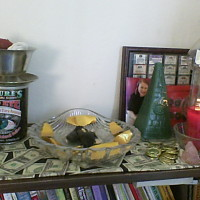 Creating a Money Altar for Money and Prosperity Drawing Candle Spells